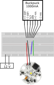 Schematic of LED test circuit