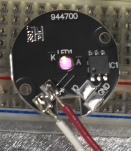 Picture of soldered LED